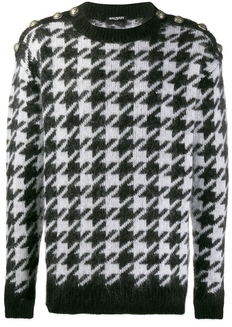 Balmain houndstooth print sweater