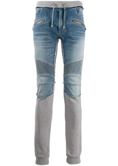 Balmain hybrid slim-fit trousers