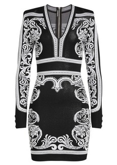 Balmain Intarsia Mini Dress