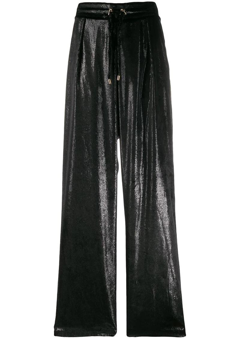 Balmain iridescent drawstring trousers