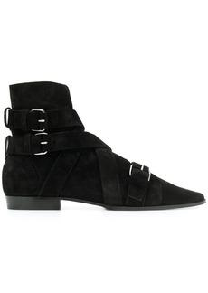 Balmain Jack black suede ankle boots