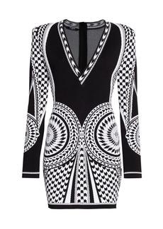 Balmain Jacquard Knit Mini Dress