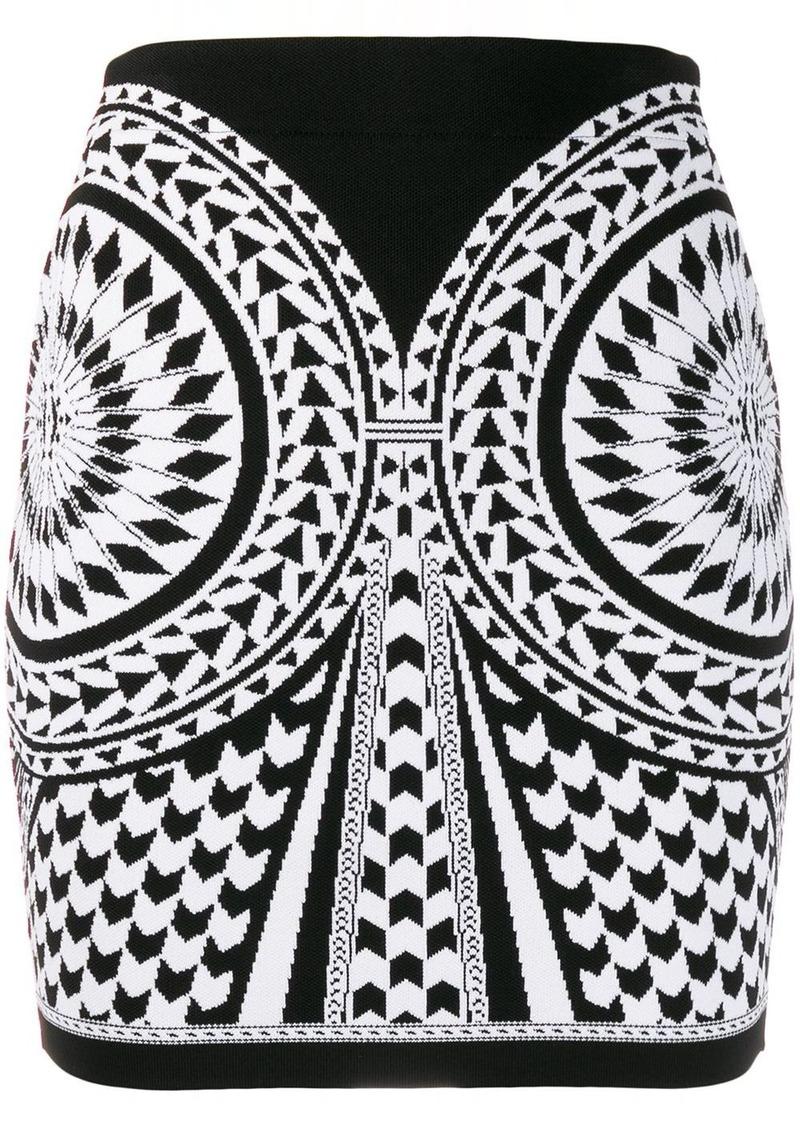 Balmain jacquard knit skirt