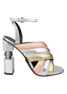 fceb38ee740556 Balmain Elvira Strass Rhinestone Sandals