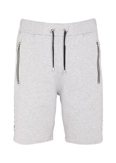 Balmain Jersey Bermuda Shorts W/foil Logo