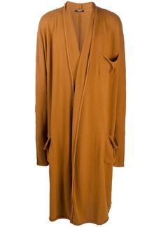 Balmain jersey long oversize cardigan