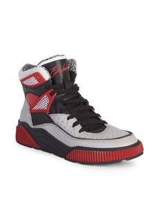 Balmain Kery Leather High-Top Sneakers
