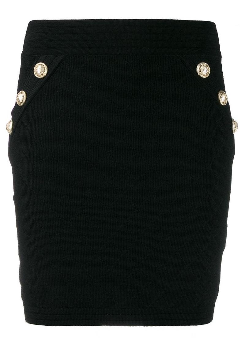 Balmain knit mini skirt