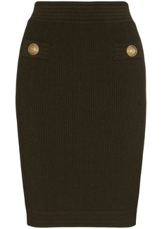 Balmain knitted bodycon skirt