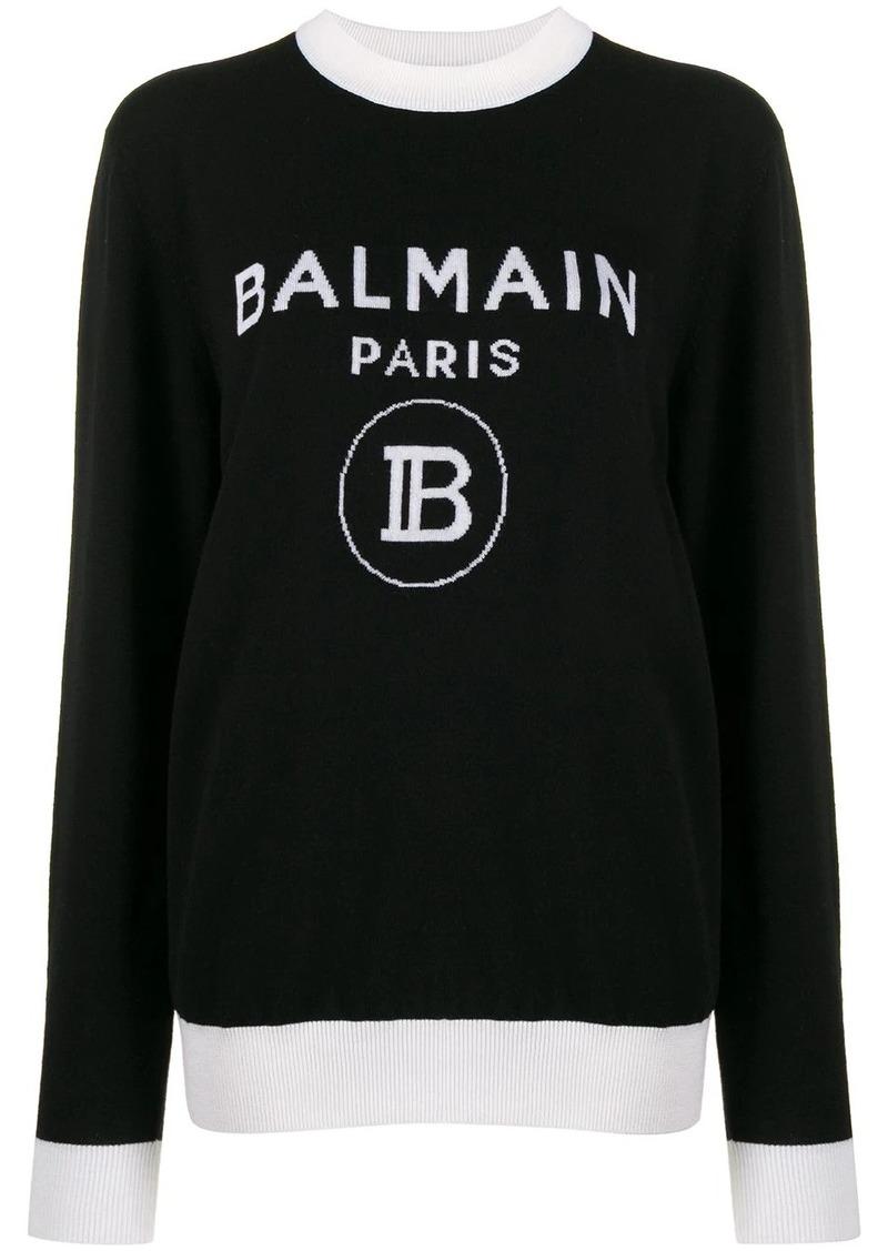 Balmain knitted logo sweater