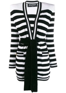 Balmain knitted striped cardigan