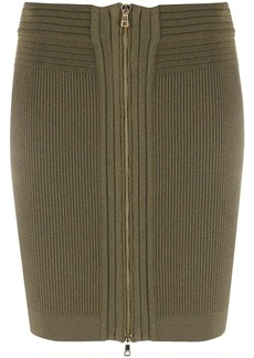 Balmain knitted zipped mini skirt