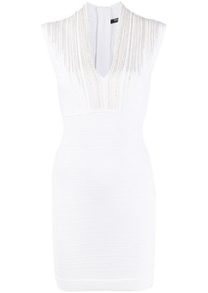 Balmain lace trim bodycon dress