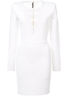 Balmain lace-up dress