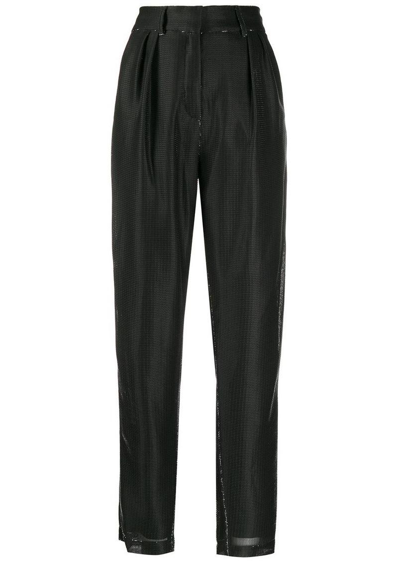 Balmain lamé tapered trousers