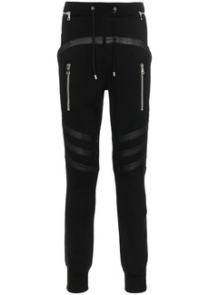 Balmain lambs wool biker sweatpants