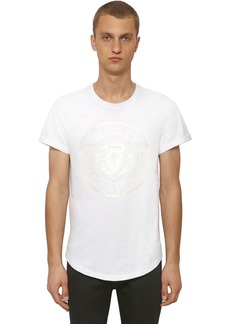 Balmain Laminate Print Cotton Jersey T-shirt