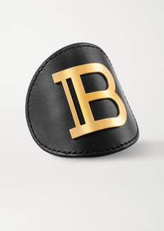 Balmain Leather And Gold-plated Hair Clip