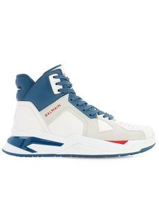Balmain Leather High Top B-ball Sneakers