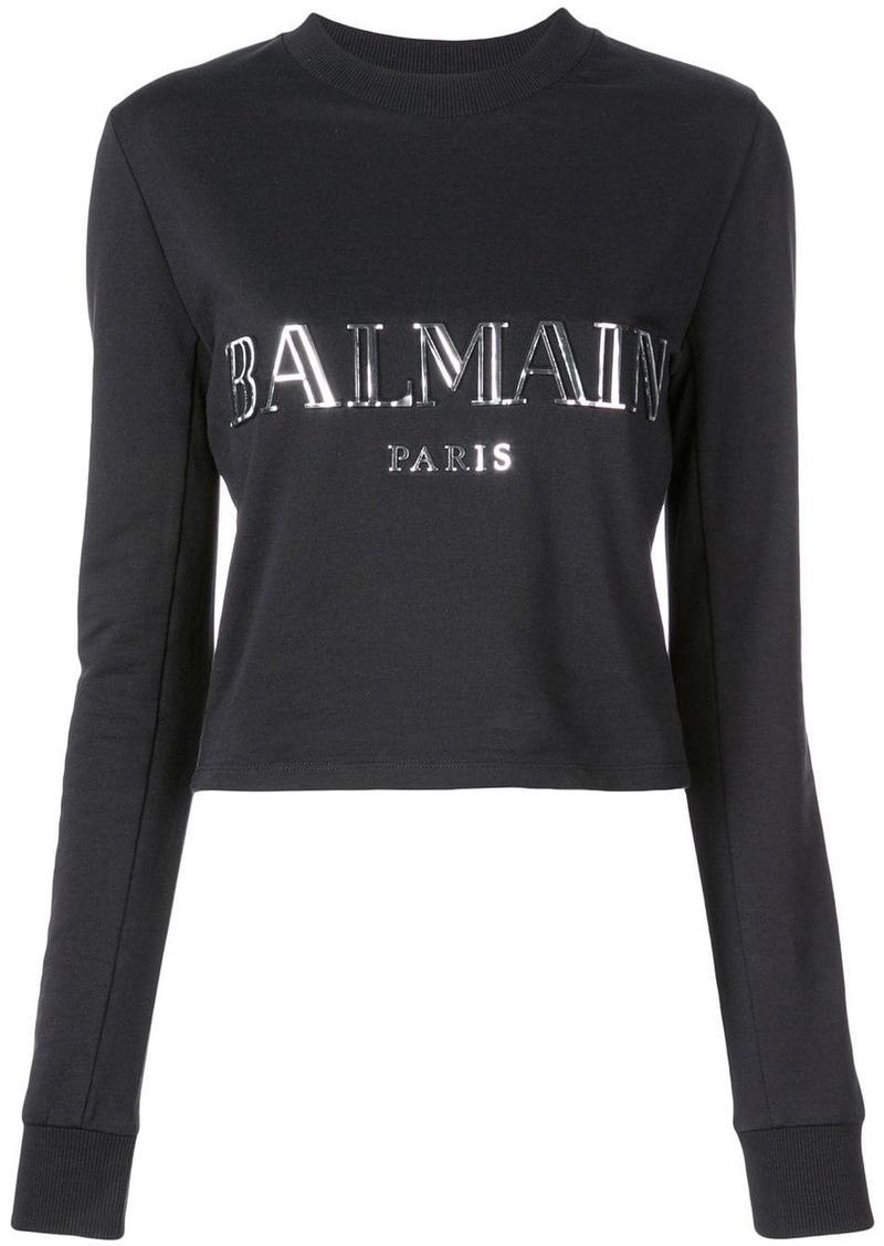 Balmain logo appliqué sweatshirt