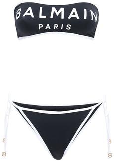 Balmain Logo Bandeau Bikini
