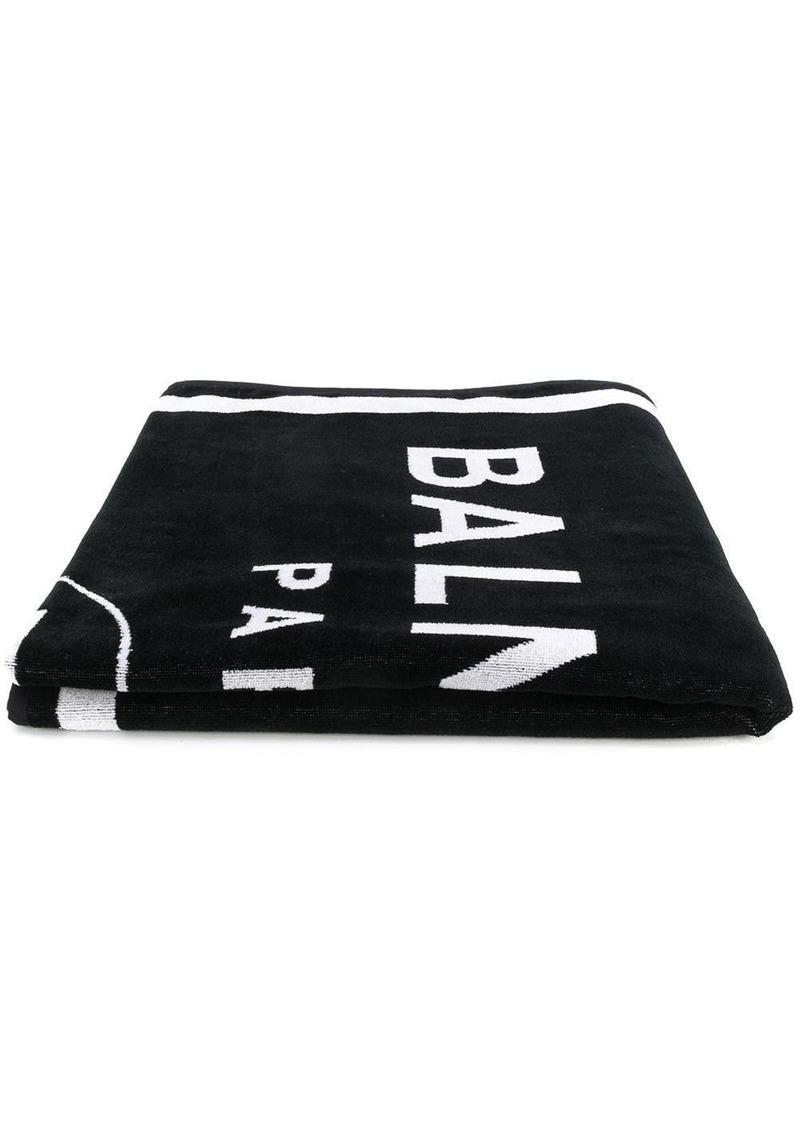 Balmain logo beach towel