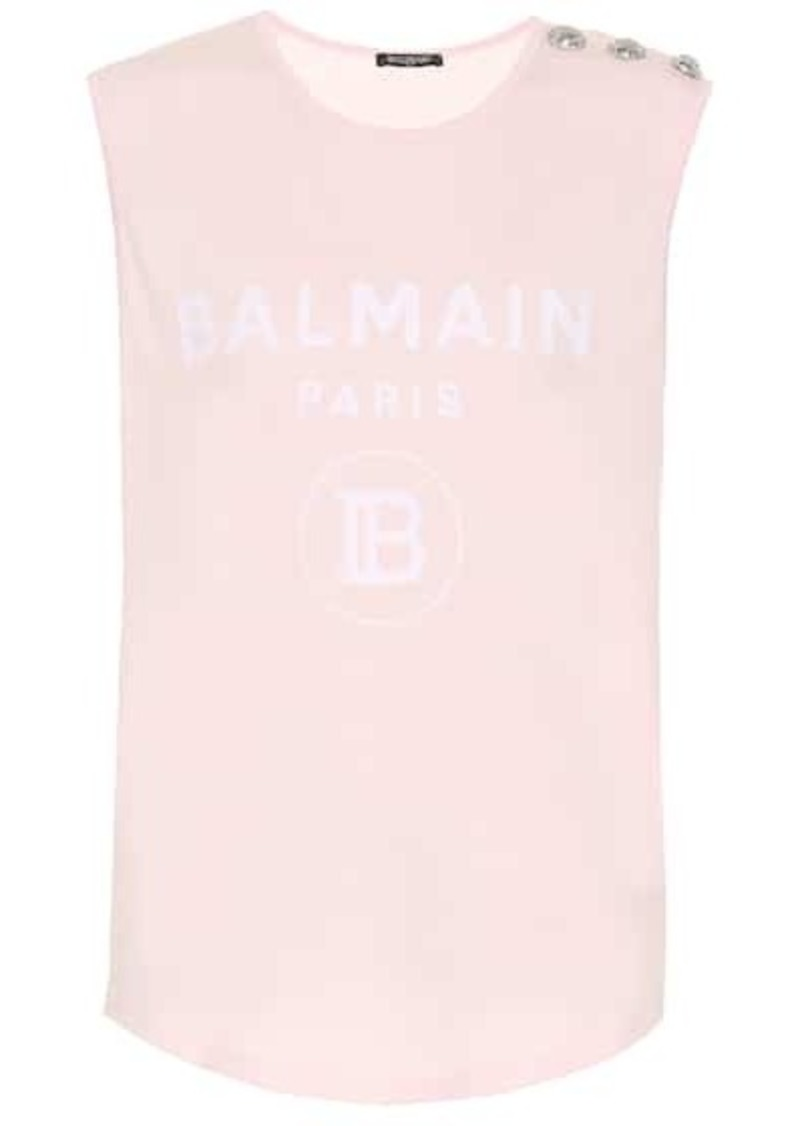Balmain Logo cotton top