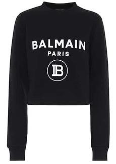 Balmain Logo cropped cotton sweater