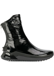 Balmain logo embossed ankle boots
