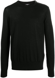 Balmain logo-embroidered knitted jumper