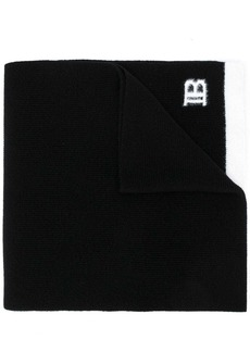 Balmain logo embroidered scarf