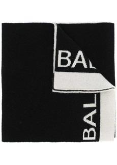 Balmain logo knit scarf
