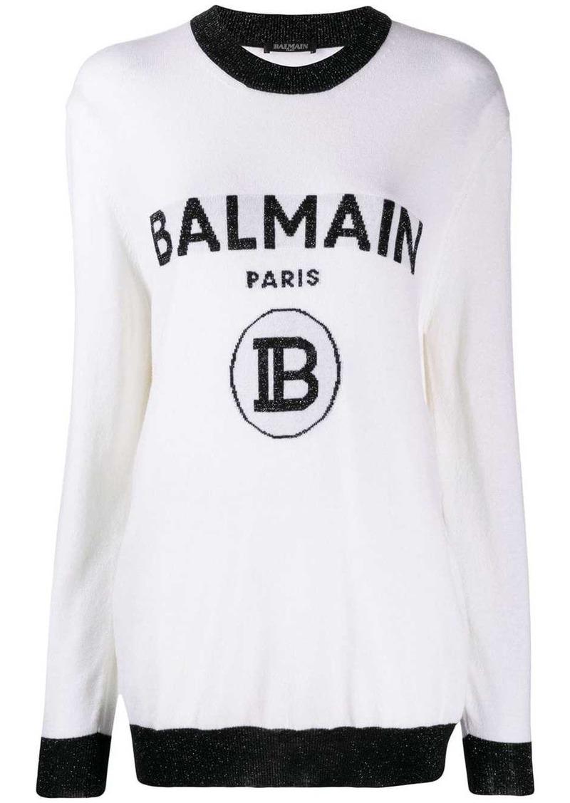 Balmain logo knitted jumper