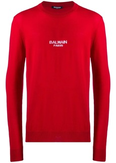 Balmain logo knitted jumper