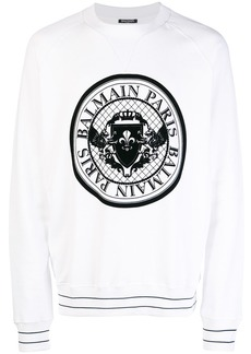 Balmain logo medallion sweater