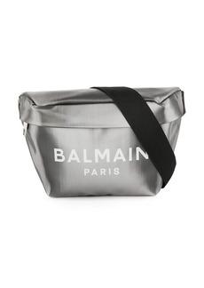 Balmain logo metallic belt bag