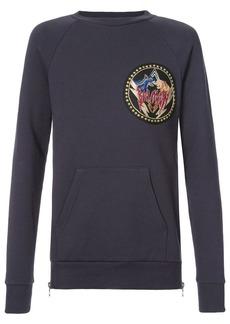 Balmain logo patch sweatshirt