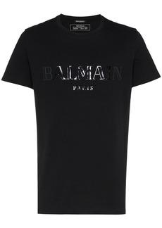 Balmain logo print crew neck t-shirt