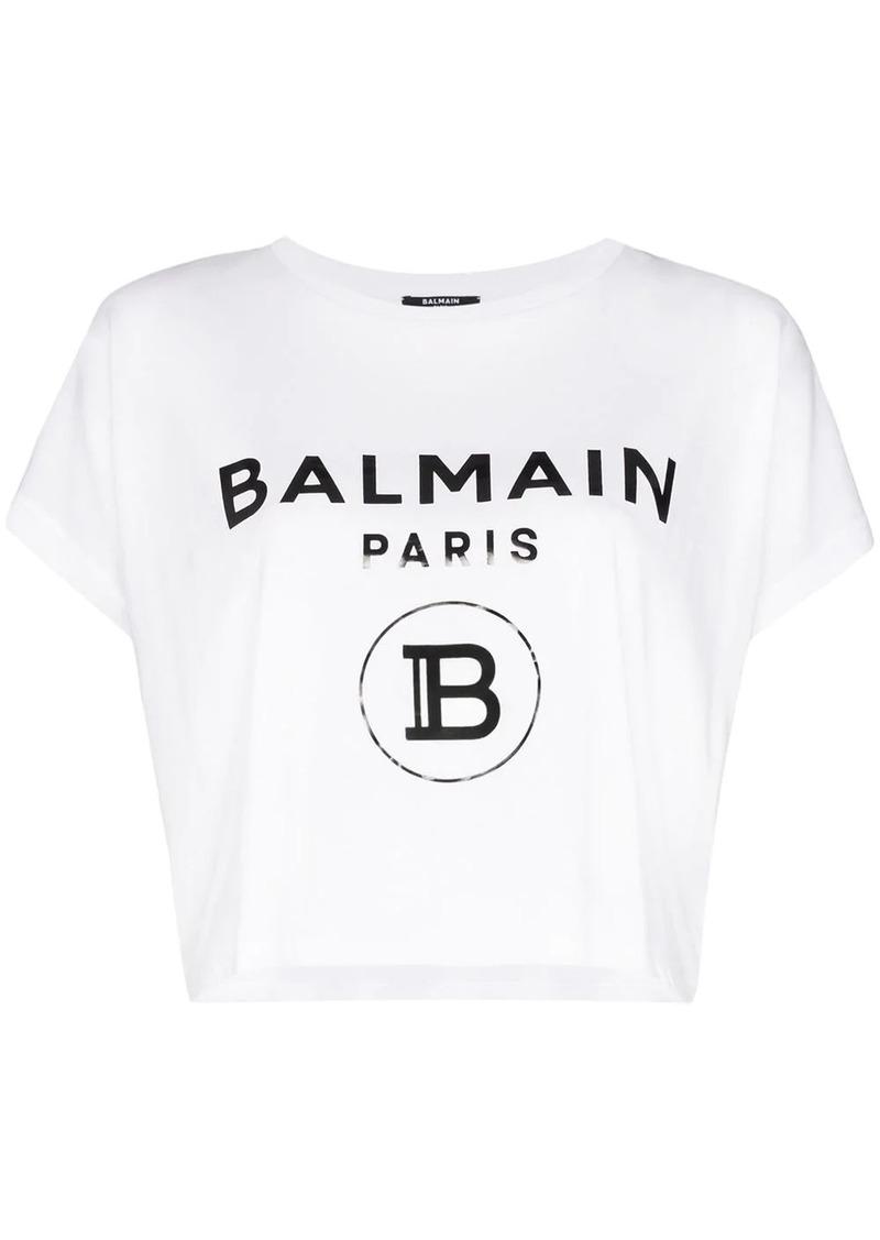 Balmain logo print boxy-fit T-shirt