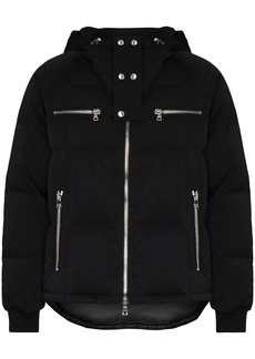Balmain logo-print hooded puffer jacket