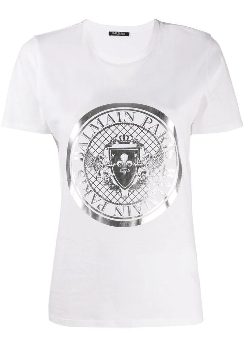 Balmain logo medallion T-shirt