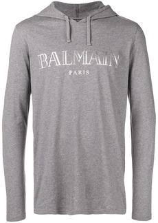 Balmain logo printed hoodie