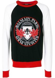 Balmain logo printed jumper