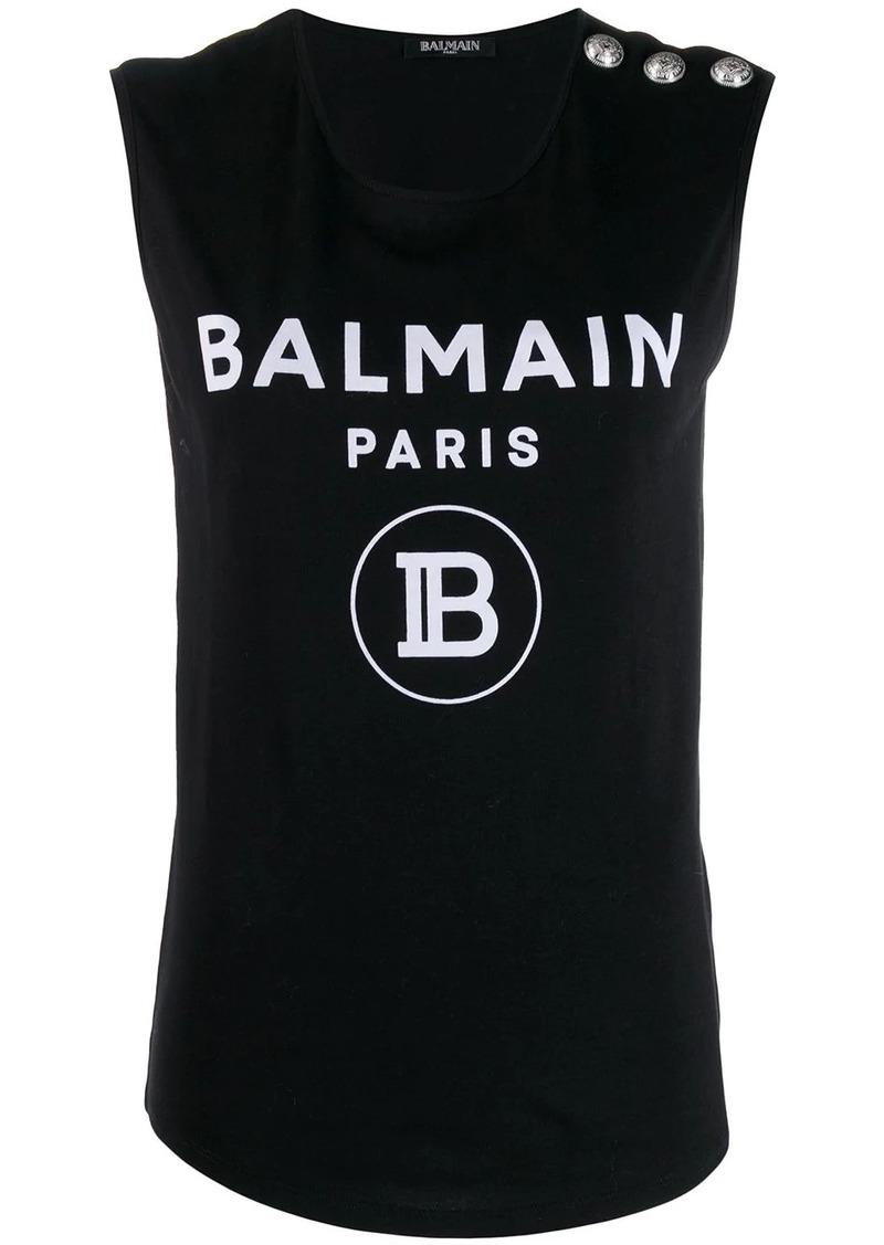 Balmain logo printed vest
