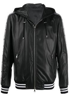 Balmain logo stripe hooded jacket