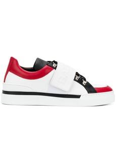 Balmain logo touch strap sneakers