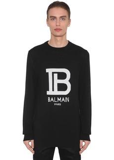 Balmain Logo Wool & Viscose Knit Sweater