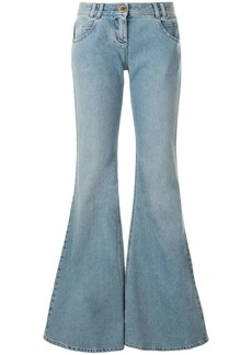 Balmain low-rise flared jeans