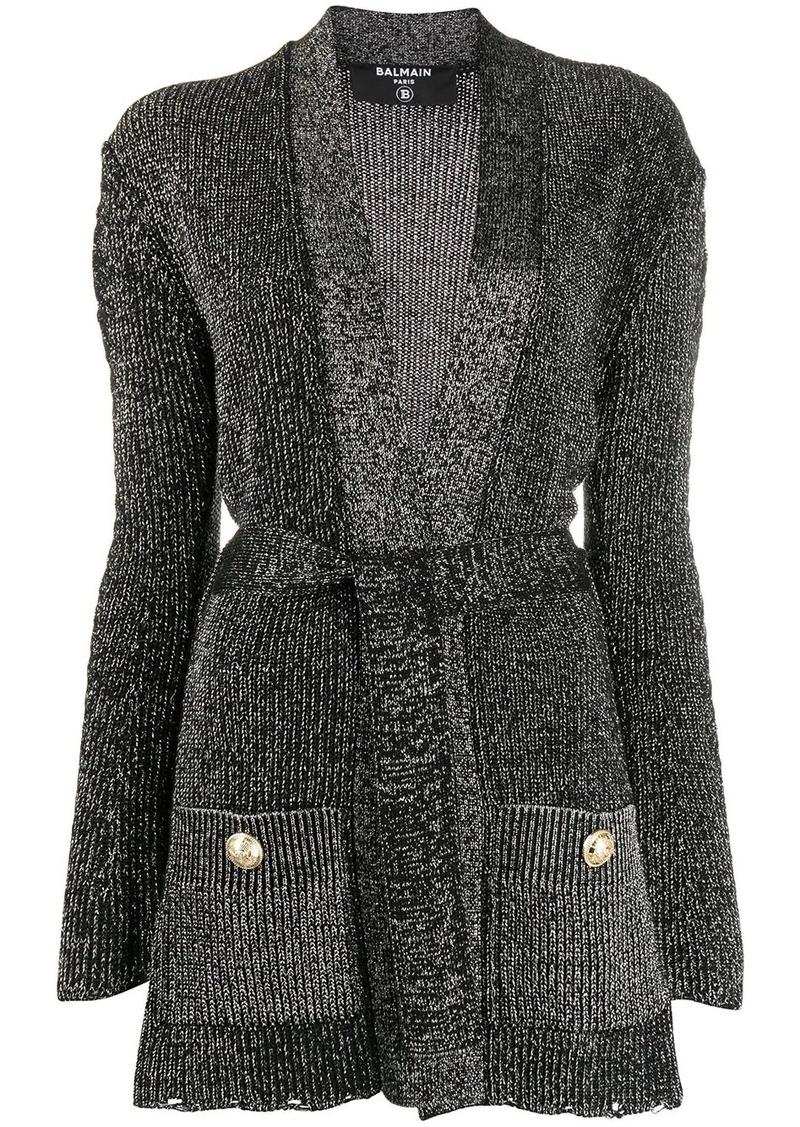 Balmain lurex knit cardigan