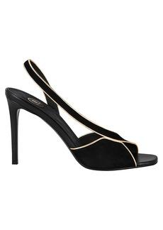 d3e9fb716cd Balmain Macy Suede Slingback Sandals